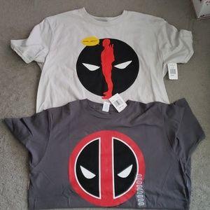 2x Marvel Deadpool T Shirts Unisex